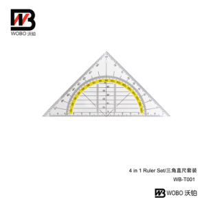 Office Stationery Set Quare Triangular Plastic Ruler Set pictures & photos
