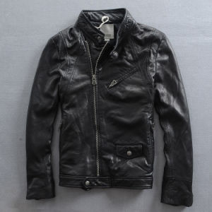 Facotry Price Stylish Woman Hot Style Leather Coat Jackets pictures & photos