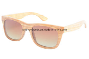 Handmade Laminated Wood Sunglasses with Brown Polarized Lens (VE012-5)