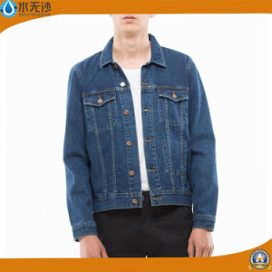 2016 Men′s Blue Denim Jacket outdoor Fashion Jean Jacket