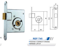 High Quality Brass Latch Lock Body pictures & photos
