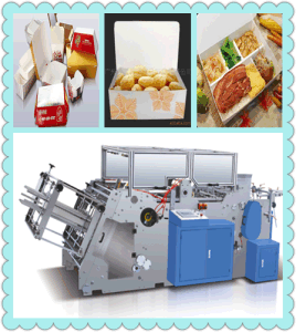 Take Away Food Box Folding Machine pictures & photos
