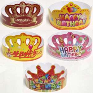 Custom Printing Birthday Party Paper Card Hats pictures & photos