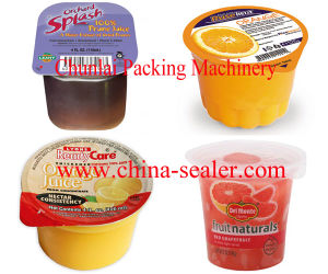 Linear Automatic Plastic Cups Sealing Machine pictures & photos