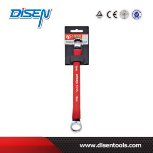 Double Offset Ring Spanner with Rubber Handle