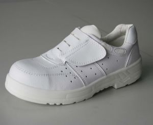 Magic Tape Design ESD/ Cleanroom White Safety Shoes