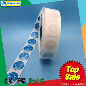 13.56MHz Ntag213 Adhesive Roll RFID Paper Label Sticker NFC Tag pictures & photos