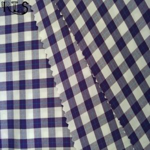 100% Cotton Poplin Woven Yarn Dyed Fabric for Shirts/Dress Rls50-2po pictures & photos