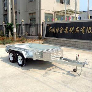 Utility Tandem /Daul Axle Heavy Duty Box Trailer (SWT-TT85) pictures & photos