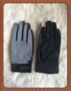Mens Fashion Button Classic Soft Sheepskin Thin Riding/Running Gloves