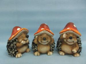 Mushroom Hedgehog Shape Ceramic Crafts (LOE2550-C11) pictures & photos