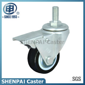 "2""PU Threaded Stem Swivel Locking Caster Wheel pictures & photos"