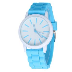 Silicone Rubber Jelly Gel Sports Women′s Watch Luxury Brand pictures & photos