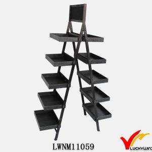 Vintage Industrial Folding Storage Rack Metal Ladder Shelf pictures & photos