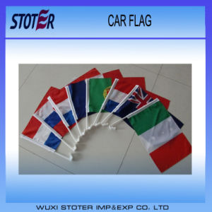 Cheap Spain Car Window Flag with Plastic Pole pictures & photos