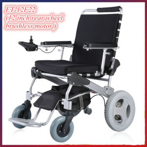Golden Motor E-Throne 8′′, 10′′, 12′′ Lightest Brushless Foldable Power Wheelchair with LiFePO4 Battery pictures & photos