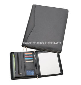 Custom A4 Business Leather Folder Pad Folio with Note pictures & photos