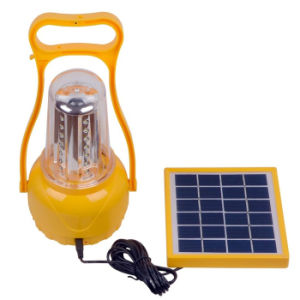 Adjustable Brightness Outdoor Solar Hand Lamp / Portable 35 LEDs Camping Lantern Rechargeable Emergency Solar Light pictures & photos