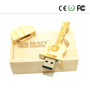 Wooden Guitar USB 2.0 Flash Memory Stick Pen Drive pictures & photos