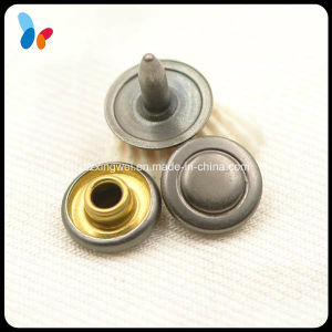 Simple Gunmetal Flat Metal Brass Rivet for Jeans pictures & photos