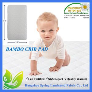 Quilted Bamboo Waterproof Crib Mattress Pad Made in China pictures & photos