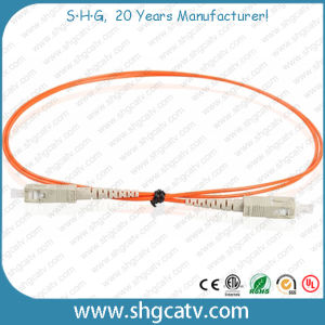 Low Loss Sc/Upc Fiber Optic Patch Cords (SC/UPC) pictures & photos
