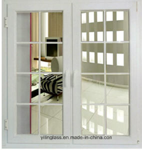 Decorative Window Glass with White Cross Bar pictures & photos