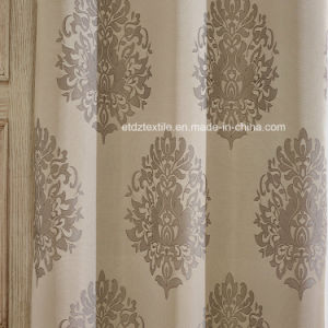 New 2016 Jacquard Flower Pattern of Window Curtain pictures & photos