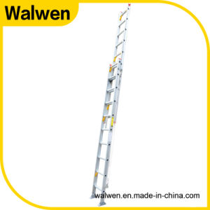 En131 Multipurpose Firefighting Extension Aluminum Ladder with Agility Rope pictures & photos
