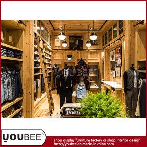 China Solid Wood Men Garment Shopfitting, Men Clothes Shop ...