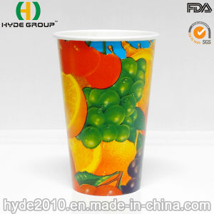 12oz Cheap Cold Drink Paper Cup with Lid (12oz) pictures & photos