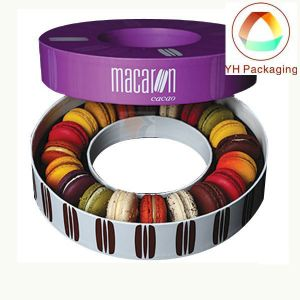 Round Tin Macarons Cookie Box Food Box Wholesale