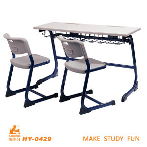 School Furniture Fashion Double Seat Desk and Chair pictures & photos