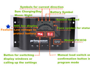 Pr3030 Fangpusun Solar Charge Controller 30A 12V/24V pictures & photos
