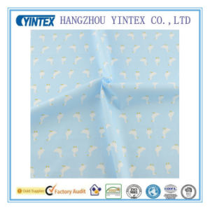 Light Blue Cotton Fabric Cartoon Goose Design for Sewing Cloth/Bedding pictures & photos