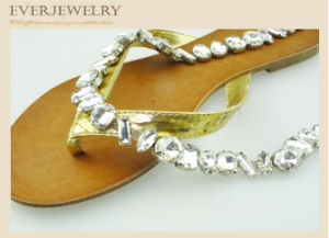 Crystal Rhinestone Cup Chain for Slippers, Shoes, 7*15+Ss29 pictures & photos