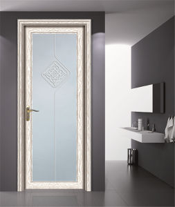Double Tempered Glass with Drawings Aluminum Casement Door pictures & photos