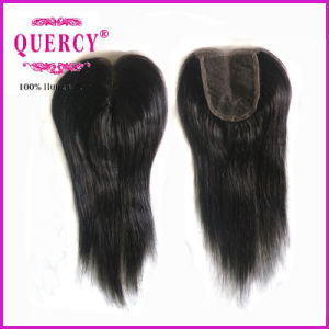 Unprocessed Virgin Hair Dark Color Straight Lace Closure Brazilian Hair Human Hair Lace Closure pictures & photos