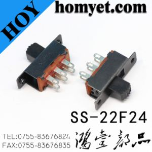 High Quality 6pin DIP Two Position 2p2t Slide Switch (SS-22F24) pictures & photos