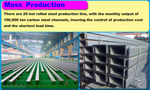 The U Channel Price Mild Steel pictures & photos