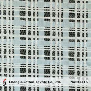 Bicolor Grid Pattern Jacquard Cotton Lace (M3415) pictures & photos