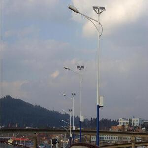 8m Pole 30W Solar LED Street Lamps Battery on Top