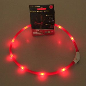 Light up LED USB Rechargeable Luminous Pet Dog Flashing Collars Night Safety Necklace pictures & photos