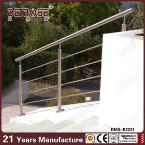 Steel Pipe Stair Handrail Outdoor Metal Stair Railing (DMS B2231)