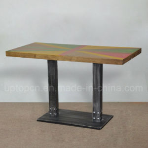 Hot Selling Antique Cafe Table Solid Wood Cafe Table (SP-RT495) pictures & photos