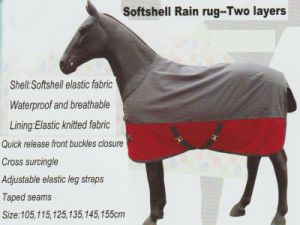 Horse Gear Softshell Rain Rug-Two Layers &Softshell Rain Rug Free Style-Two Layers pictures & photos