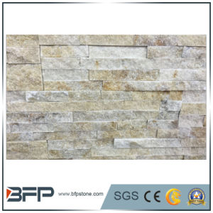 Classic White Gold Wood Vein Cultural Slate Stacked Veneer Stone pictures & photos