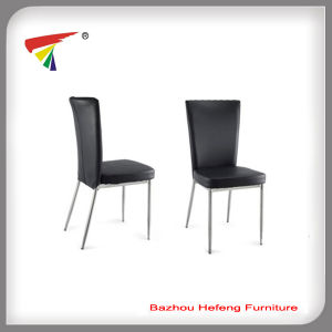 Popular Cheaper Black Leather Dining Chair (DC002) pictures & photos