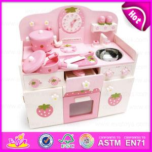 2015 New Design Kids Wooden Kitchen Furniture Toy Set, Promotional Wooden Toy Kitchen Set, Top Quality Big Kitchen Set Toy (W10C148) pictures & photos