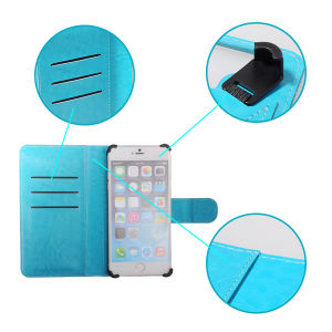 Veaqee Newest Mobile Phone Universal Leather Case with 3 Sizes